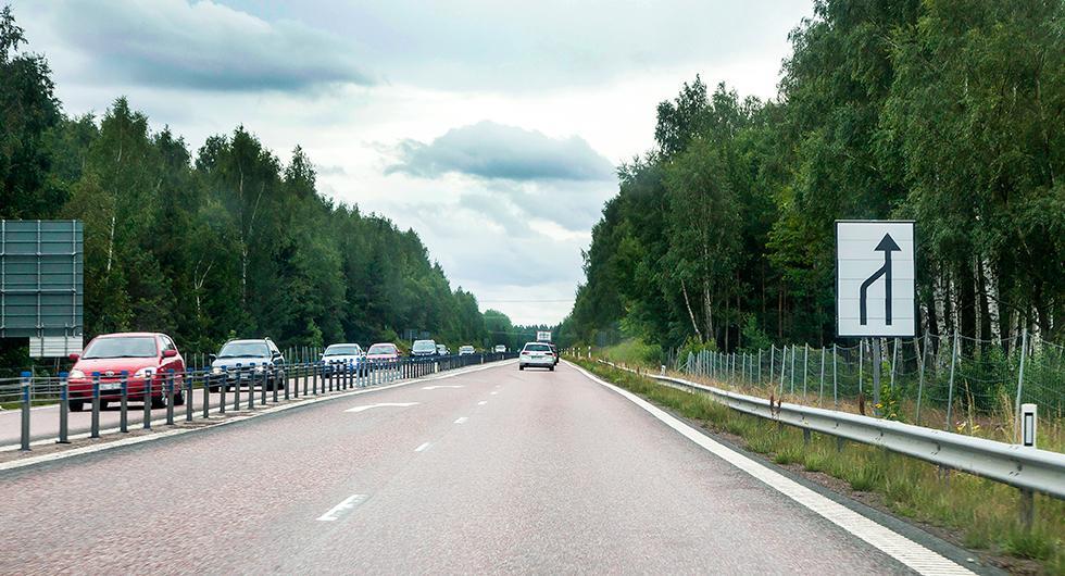Sverige prisas för 2+1-väg