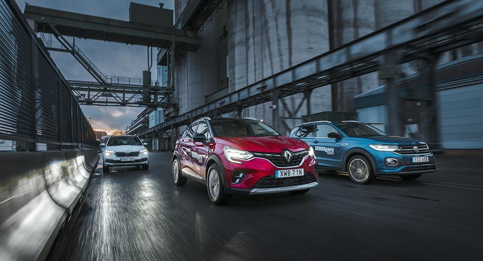 Test: Renault Captur, Skoda Kamiq och Volkswagen T-Cross (2020)