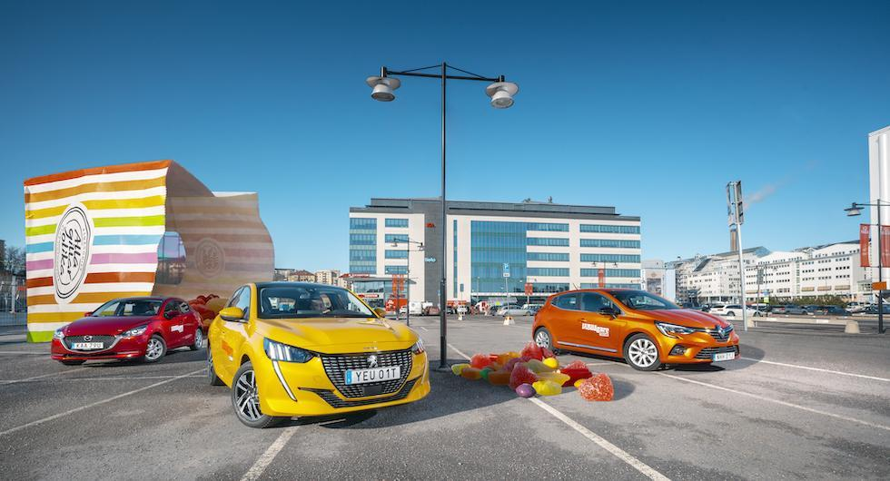 Ljustest: Mazda 2, Peugeot 208 och Renault Clio (2020)