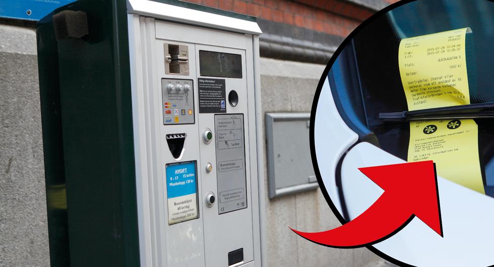 Krävs på pengar – trots trasig p-automat