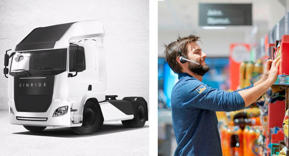 Elektriska lastbilar från Einride fraktar mat åt Lidl