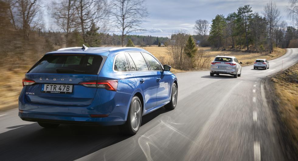 Test: Ford Focus, Renault Megane och Skoda Octavia (2020)