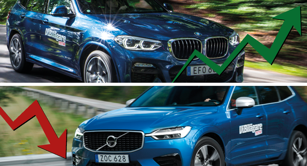 Volvo rasar när säljarna betygsätter sina bilmärken