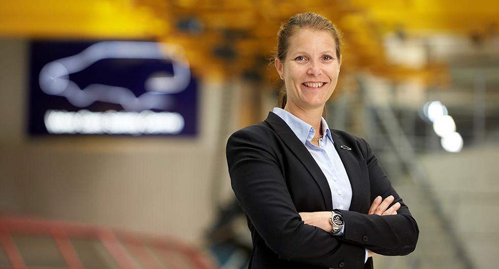 Malin Ekholm är chef är Volvos trafiksäkerhetscenter.