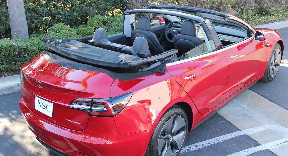 Tesla Model 3 blir cabriolet – för 300 000 kronor extra