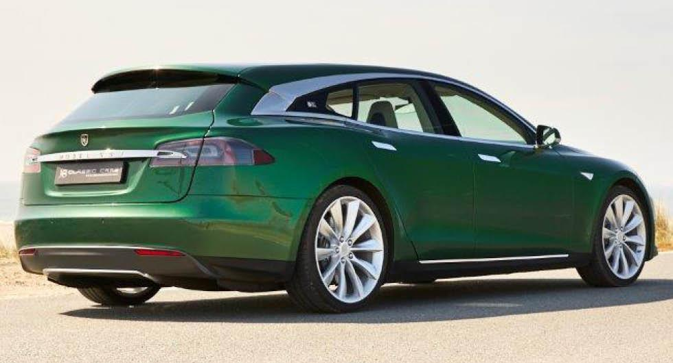 Tesla Model S som kombi – nu kan du köpa enda exemplaret