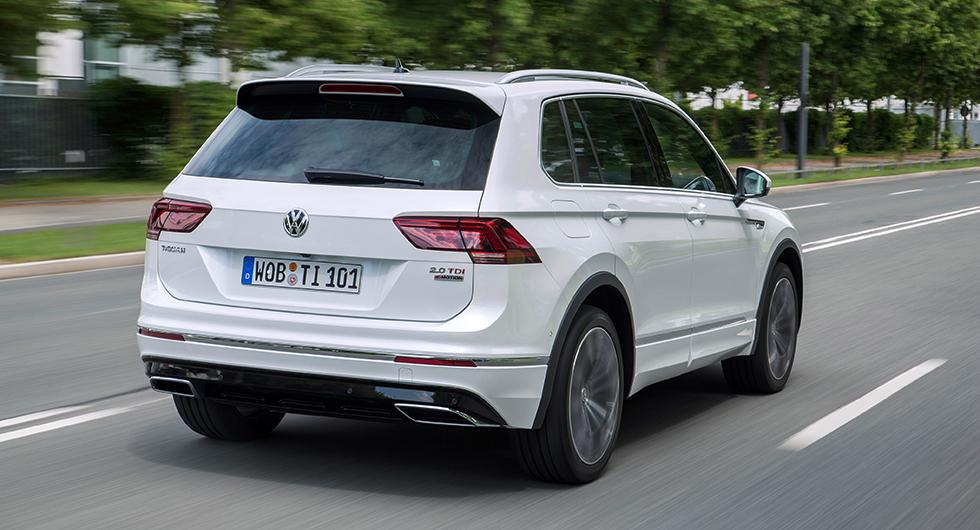 Volkswagen Tiguan kan tappa takspoilern