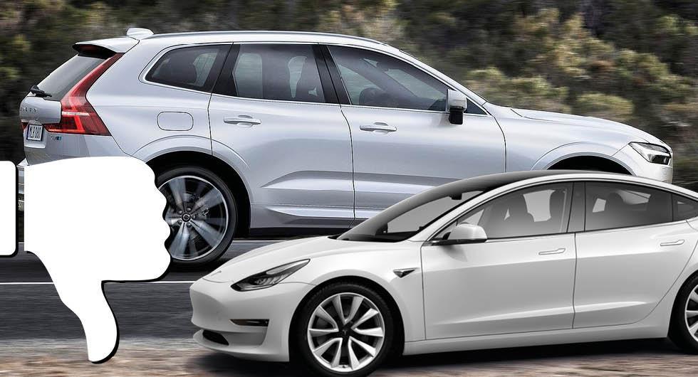 Bilarna som strular mest: Volvo och Tesla i botten