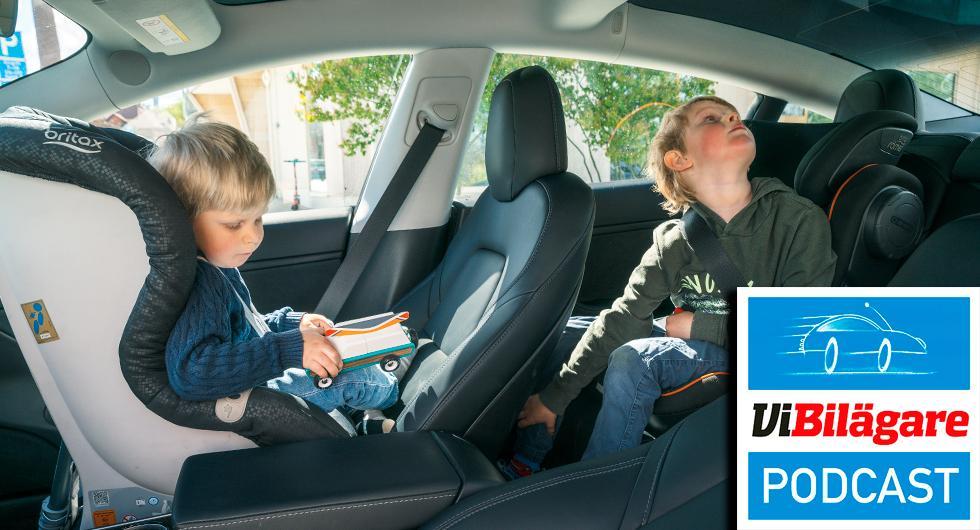 Barnsäkerhet i långteststallet och Mitsubishi ASX