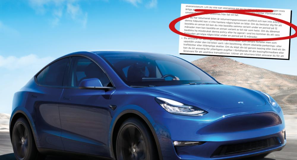 """Teslas okända regel: Kan """"banna"""" vissa köpare i ett år"""