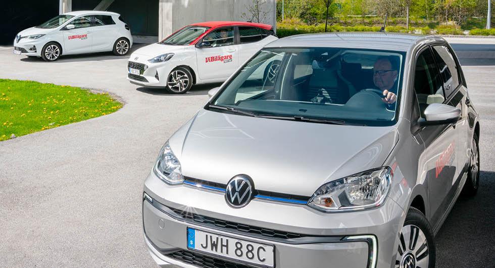 Ljustest: Hyundai i10, Renault Zoe, Volkswagen e-up (2020)