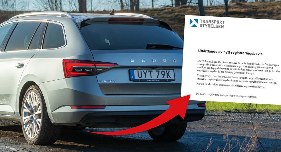 Volkswagen har angett fel tjänstevikt för 30 000 bilar