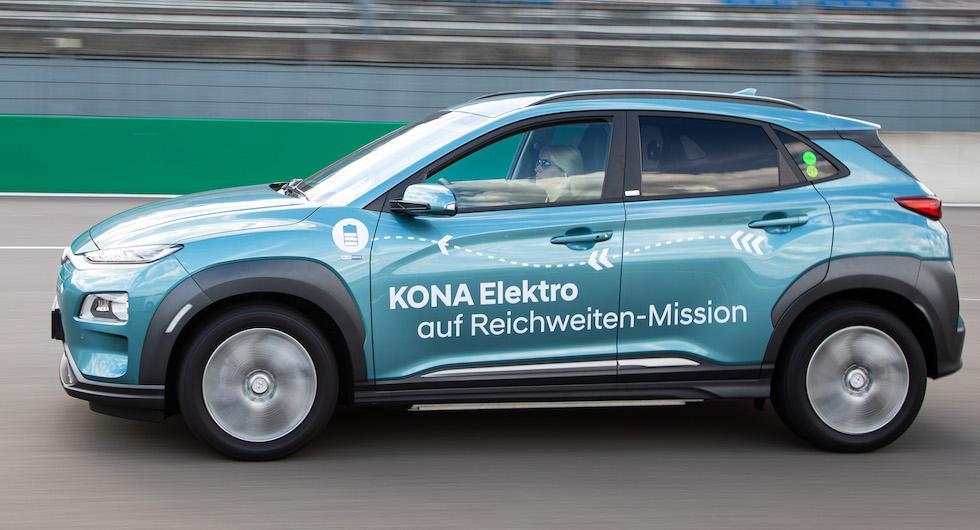 Hyundai Kona klarade över 100 mil på en laddning