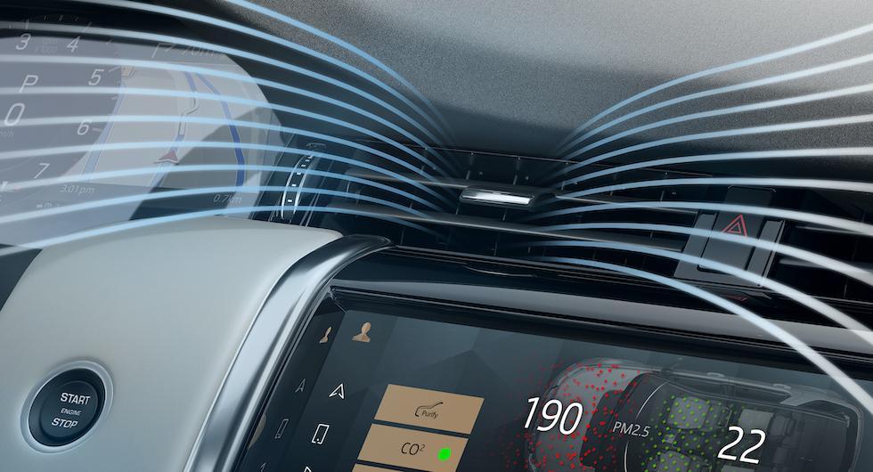 Land Rover lanserar nytt kupéfilter som rensar smutsig luft
