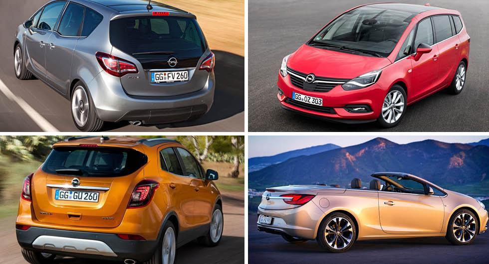 Opel har rensat bort både Meriva, Zafira, Mokka och Cascada ur modellprogrammet för att spara pengar och fokusera på mer lönsamma modeller.