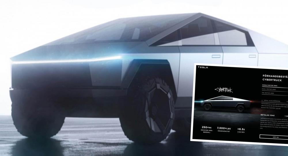 Trots Elon Musks besked – Tesla Cybertruck kvar på hemsidan