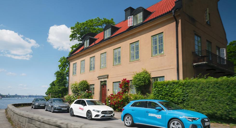 Ljustest: Audi A3, BMW 1-serie, Mercedes A-klass och Volkswagen Golf (2020)