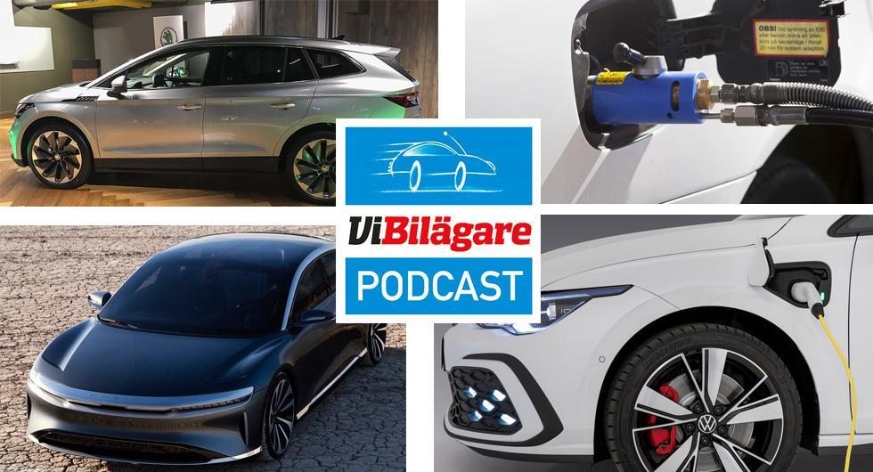 Skoda Enyaq, Volkswagen Golf GTE, bonus/malus, konvertering och Lucid Motors