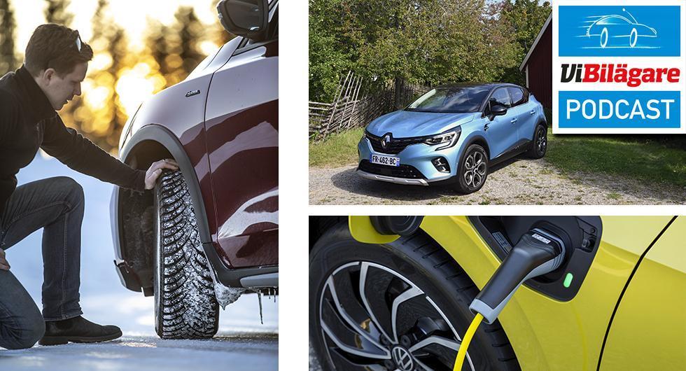 Dubbdäck, Volkswagen Golf eHybrid och Renault Captur E-Tech