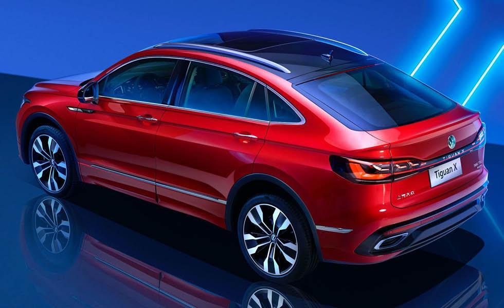 Volkswagen Tiguan X avslöjad – första bilderna på nya coupésuven