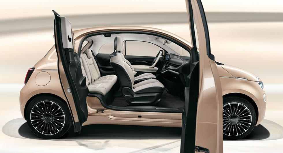 Officiell: Fiat 500 3+1 – elbilen nu med bakdörr och lägre pris
