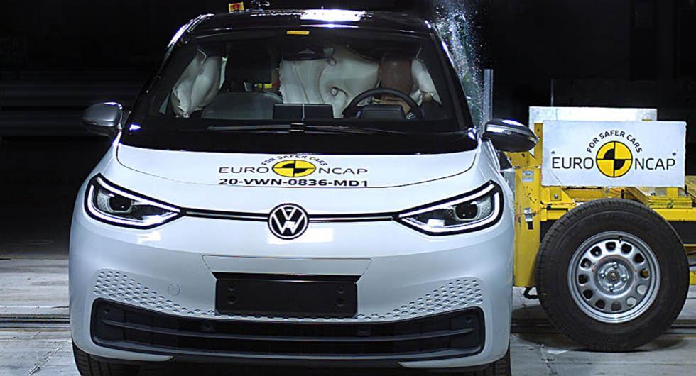 Volkswagen ID 3 får toppbetyg i Euro NCAP:s krocktest