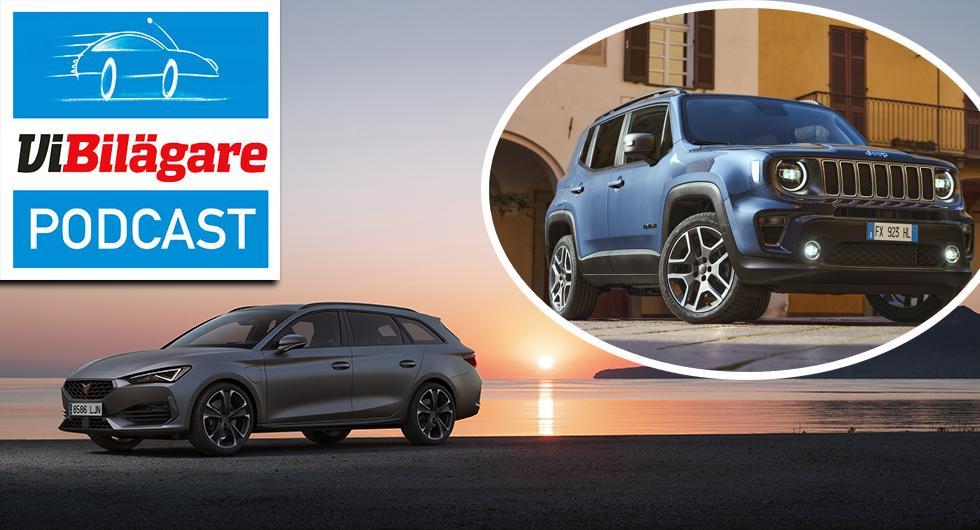 Jeep Renegade 4xe och Cupra Leon Sportstourer e-Hybrid