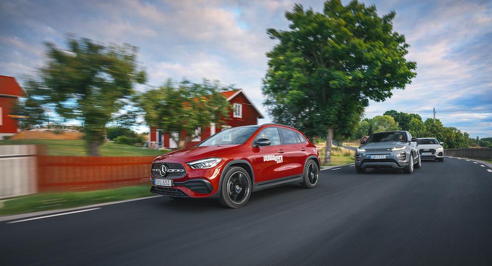 Ljustest: Audi Q3 Sportback, Mercedes GLA & Range Rover Evoque (2020)