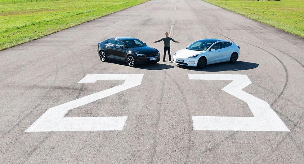 Duell: Polestar 2 mot Tesla Model 3 (2020)