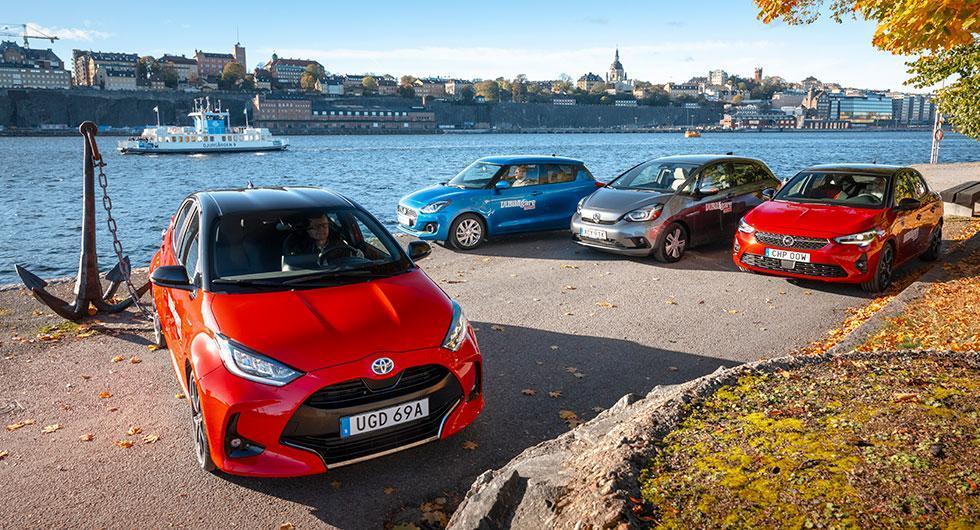 Rosttest: Honda Jazz, Opel Corsa, Suzuki Swift och Toyota Yaris (2020)