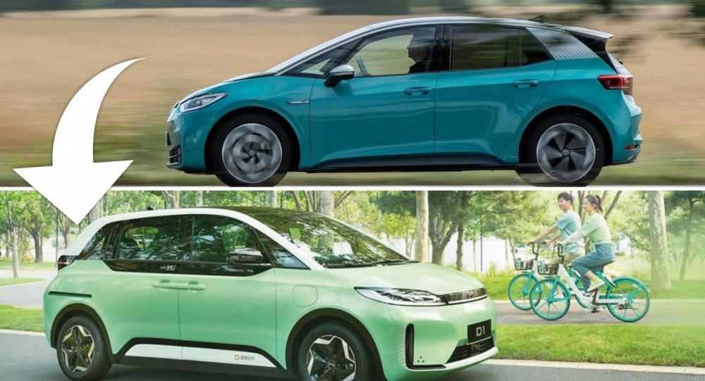 Byd D1 är en ny elbil som kopierar Volkswagen ID 3 rakt av
