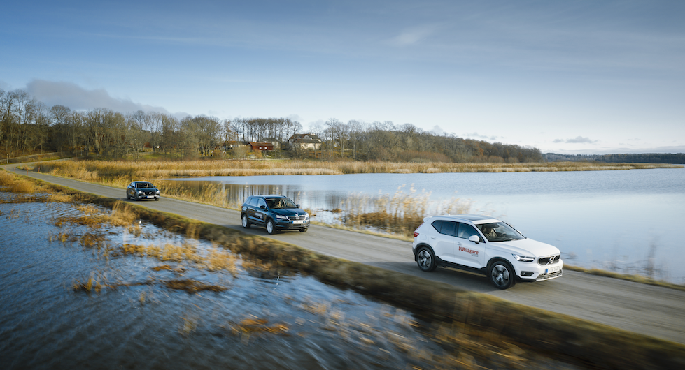Rosttest: Mazda CX-30, Skoda Karoq och Volvo XC40 (2020)