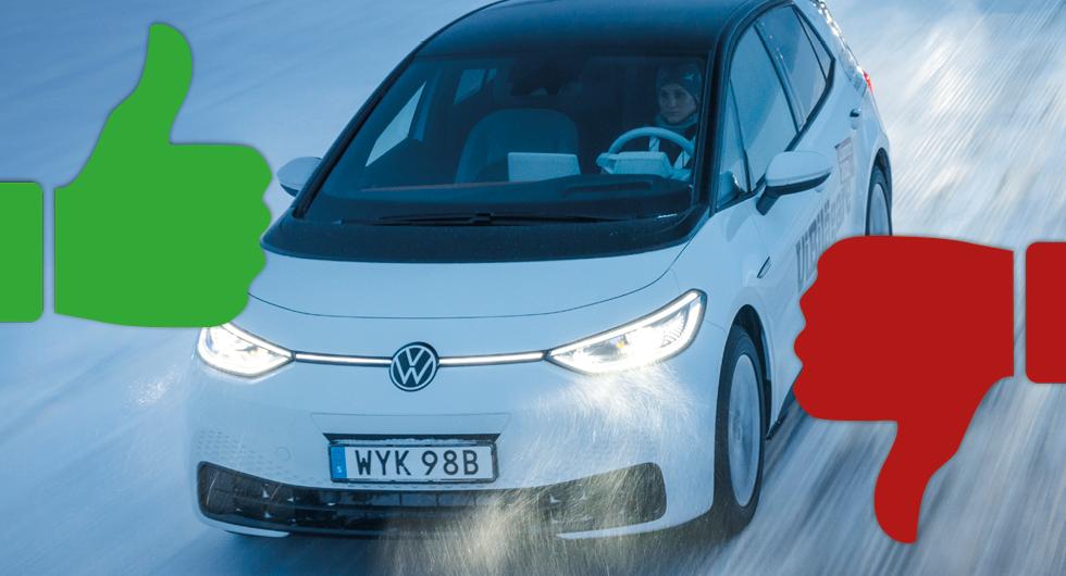 10 detaljer vi gillar och ogillar med Volkswagen ID 3