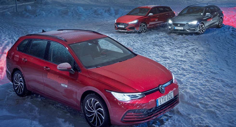Rosttest: Hyundai i30 Kombi, Seat Leon ST och Volkswagen Golf Sportscombi (2021)