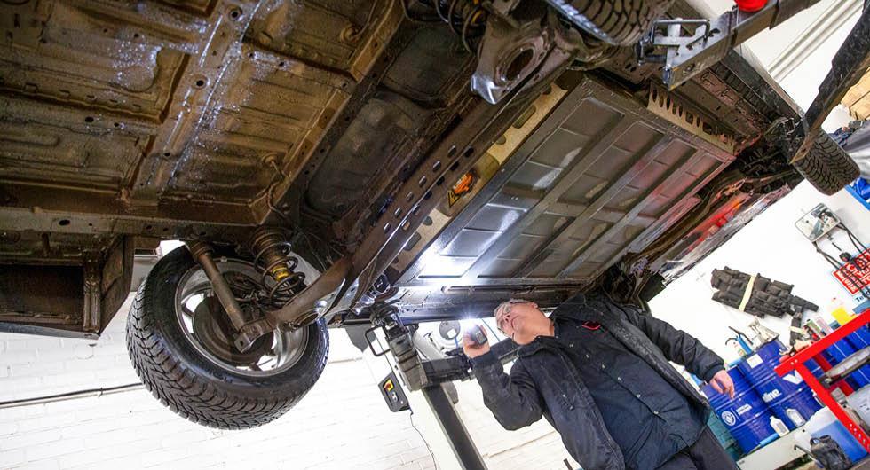 Rostskydd i elbilen Maxus Euniq MPV: Enkelt men funktionellt