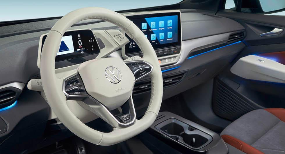 Volkswagen ID 3 får version 2.1 av mjukvaran –med trådlösa uppdateringar