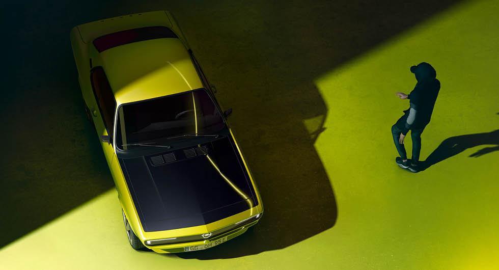 Opel Manta GSe är en eldriven version av klassiska sportmodellen