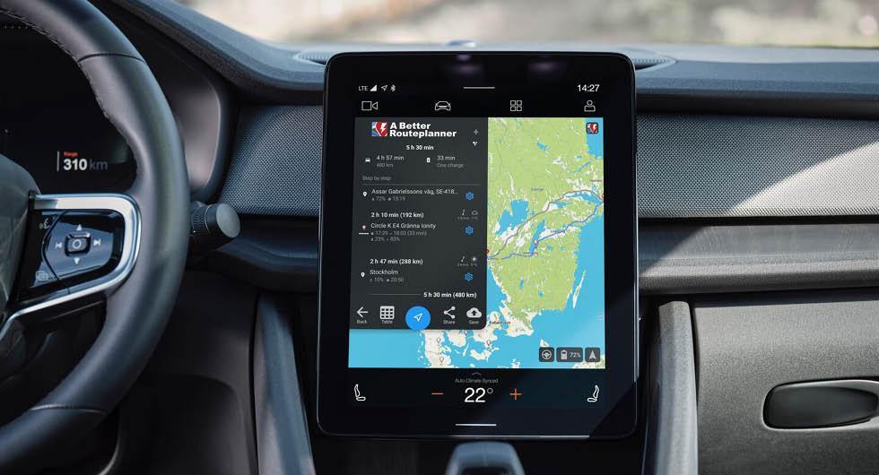 Polestar 2 får stöd för A better route planner-appen