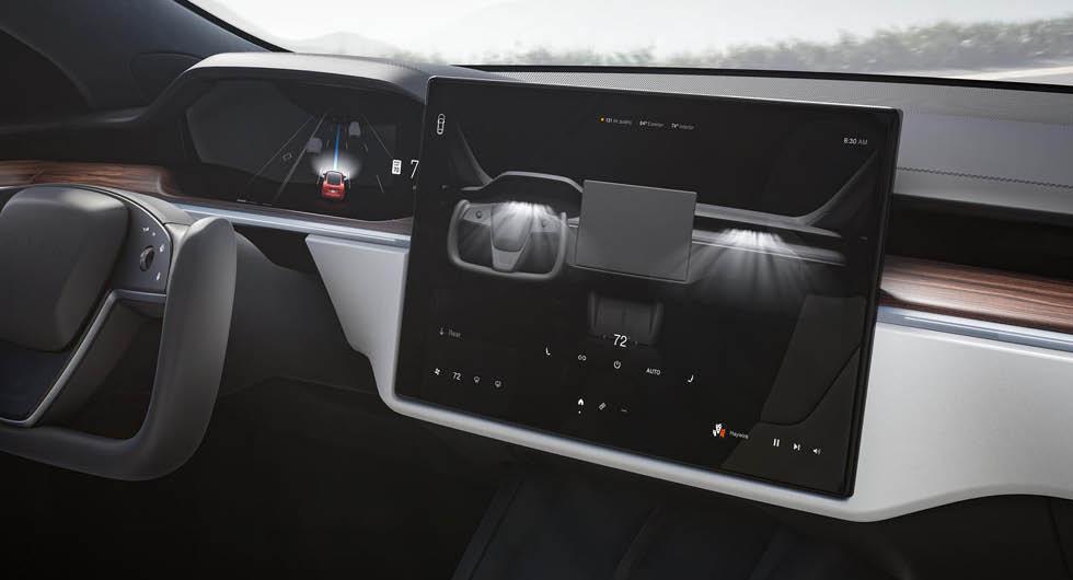 Tesla inför digital växelspak – skiftar med pekskärmen