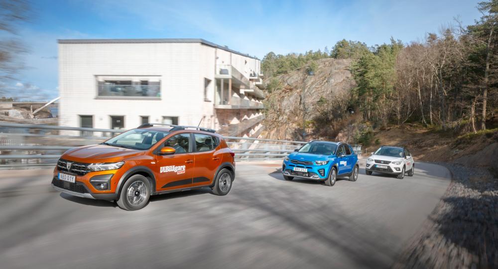 Ljustest: Dacia Sandero, Kia Stonic och Seat Arona (2021)
