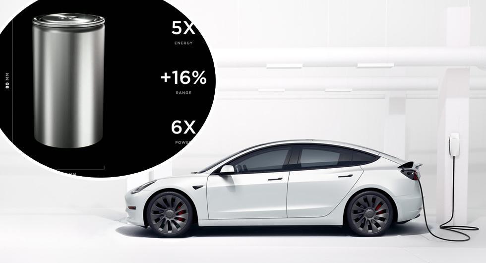 Panasonic och Tesla tror på billigare elbilar med burk-batteri