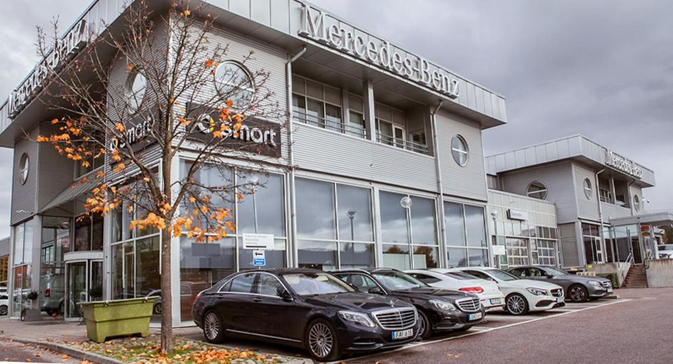 Upplands Motors anläggning i Kista. Foto: Mercedes-Benz Sverige