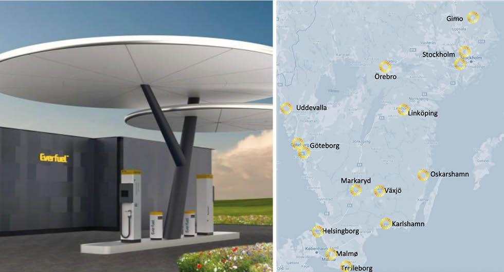 15 nya vätgasmackar kan byggas längs svenska vägar