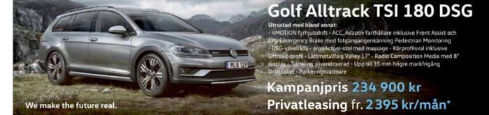 VW Golf 1690:- för privatleasing