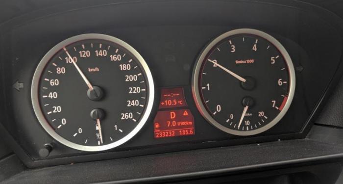 75 mil i gammal BMW