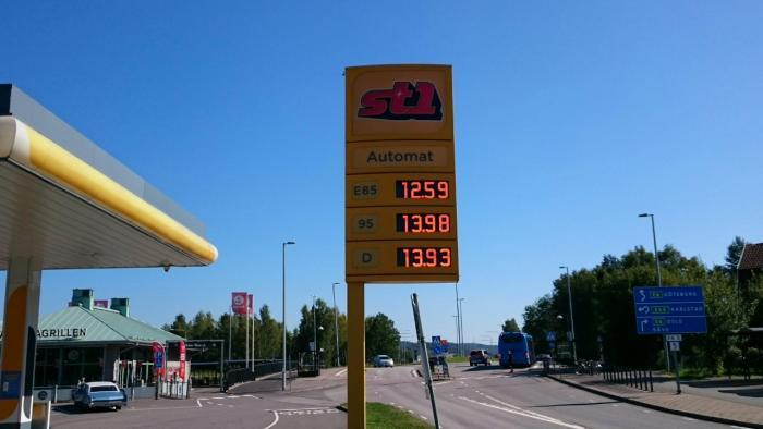 Nytt rekord.  Diesel dyrare än någonsin.