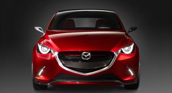 Mazdas konceptbil Hazumi som visades på Genève-salongen tidigare i våras.