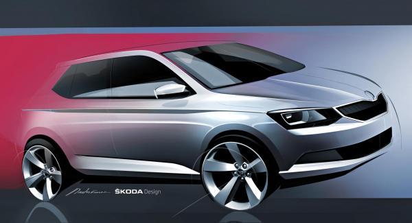 Nya Fabia kommer enligt Skoda bli den första modellen som lånar formspråket från konceptet Vision C.