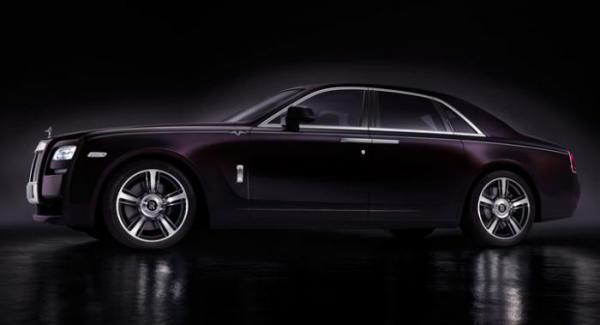 Rolls-Royce Ghost. Bilen på bilden är inte Rolls-Royce nya modell.