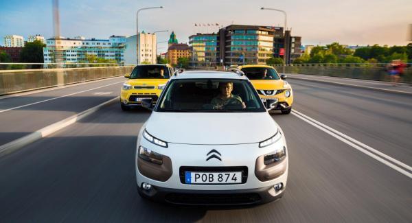 BIltest: Citroën Cactus, Kia Soul och Nissan Juke.